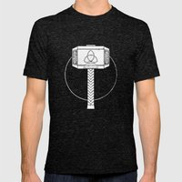 THOR! Mens Fitted Tee Tri-Black SMALL