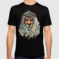 Lion Mens Fitted Tee Black SMALL