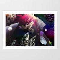 Moonlight Drive Art Print