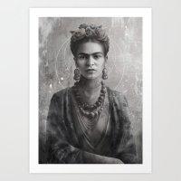 Frida Ink Art Print