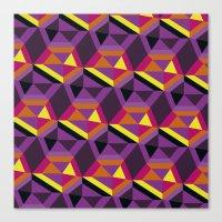 Chasing purple Canvas Print