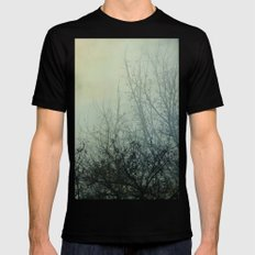 Dark Morning SMALL Black Mens Fitted Tee