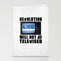 Revolution will not be televised Stationery Cards
