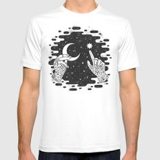 Look to the Skies Mens Fitted Tee White SMALL