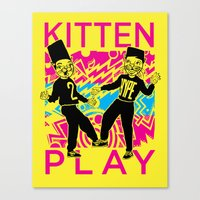 Kitten Play Canvas Print