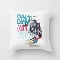 SPACE ODDITY Throw Pillow
