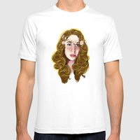 Flowers In Your Hair.... Mens Fitted Tee White SMALL