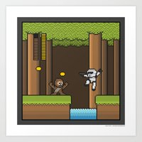 Mega Boss Battles - Chew… Art Print