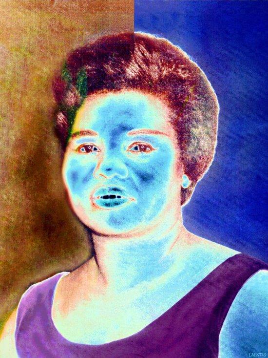 BLUE BROWN Art Print