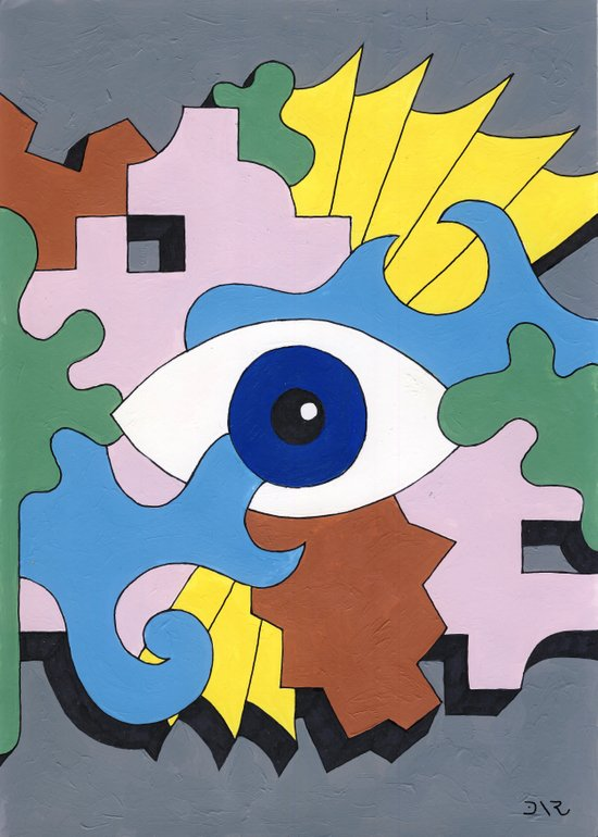 Patterned Eyes | The Right Eye 2/2 Art Print