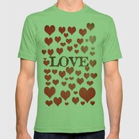Love Heart Valentines De… Mens Fitted Tee Grass SMALL