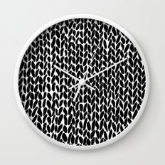 Hand Knitted Black S Wall Clock