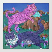 Mountain Cats Canvas Print