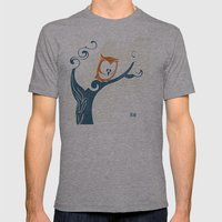 Little Owlet In A Tree Mens Fitted Tee Athletic Grey SMALL