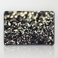 Black and Silver Glitter iPad Case