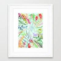Tropical Garden Pattern Framed Art Print