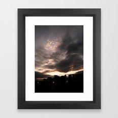Sky Fire Framed Art Print