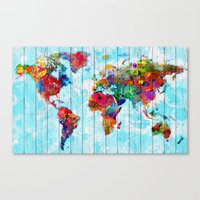 Woodside World Map Canvas Print