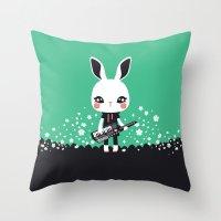 KeyZtar & Bunbina Throw Pillow