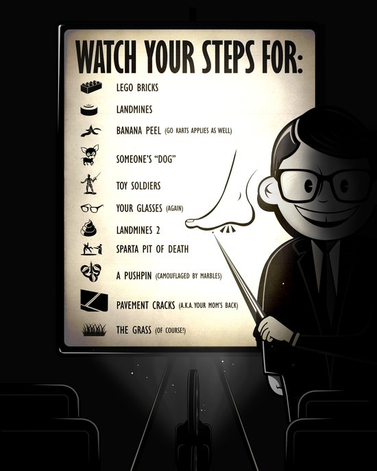Watch your steps for (option 2) Canvas Print