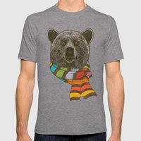 Winter Bear Mens Fitted Tee Tri-Grey SMALL