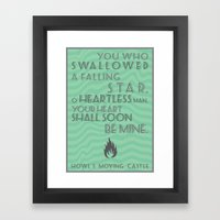 Howl's Moving Castle Quo… Framed Art Print