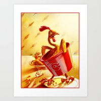 Bucket Of Chicken Art Print