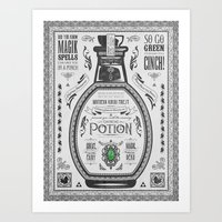 Legend of Zelda Green Chu Potion Advertisement Art Print
