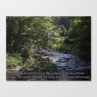 Stone In A Stream. Canvas Print