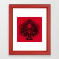 Lucky Spade Framed Art Print