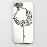 "iPhone & iPod Case featuring ""Natarasasana"" Skeleton Print by devonstorm"