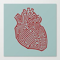 Heart Maze Canvas Print