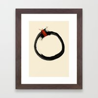 Temporary Perfect Framed Art Print