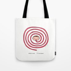 Awesome tongue Tote Bag