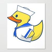 Sailor Duck Canvas Print
