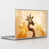 Laptop & iPad Skin featuring The Unicorn Giraffe by Nicky2342