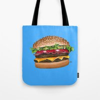 junk food - burger Tote Bag