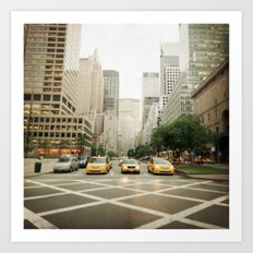 Pick A Cab Art Print