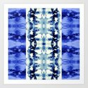 Tie Dye Blues Art Print