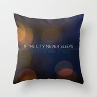 No Sleep Throw Pillow