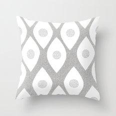 Eye Pattern White Throw Pillow