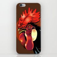 Andalusian Rooster 1 iPhone & iPod Skin
