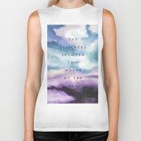 Stillness [Collaboration with Jacqueline Maldonado] Biker Tank