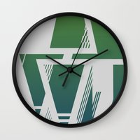 Abstract Color Wall Clock