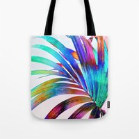 Multicolor Palm Leaf Tote Bag