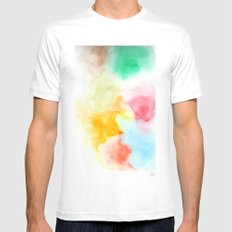 Haze SMALL White Mens Fitted Tee