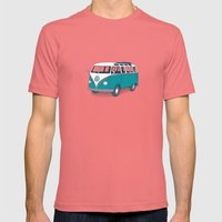 VW Campervan II Mens Fitted Tee Pomegranate SMALL