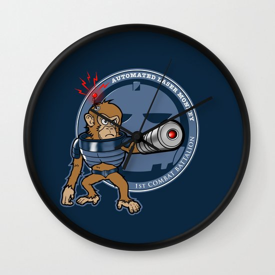 Automated Laser Monkey Wall Clock