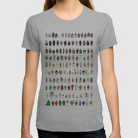 Pixel Wars Womens Fitted Tee Athletic Grey SMALL