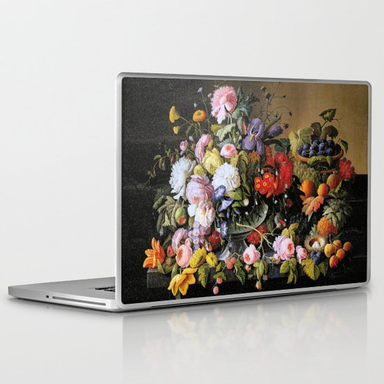 Vintage Varnish- Flowers&Fruit Laptop & iPad Skin